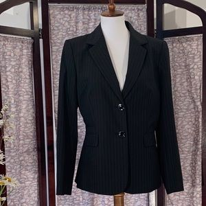 Antonio Melani black pin-Striped suit jacket.